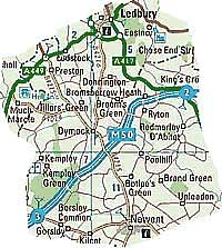 Picture, Dymock Map
