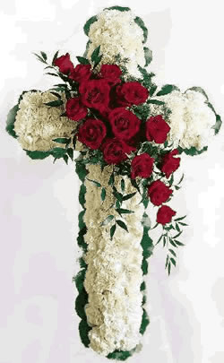 Picture, Floral Cross